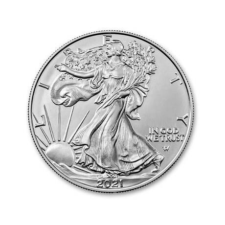2021 1 oz American Silver Eagle // Type 2 // Mint State Condition // Wood Presentation Box