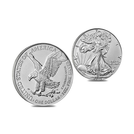 2021 1 oz American Silver Eagle // Type 2 // Mint State Condition // Deluxe Collector's Pouch