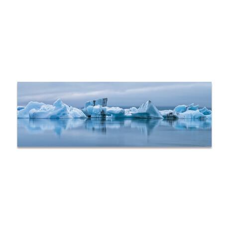 """Icebergs in Arctic (16""""H x 48""""W x 0.5""""D)"""