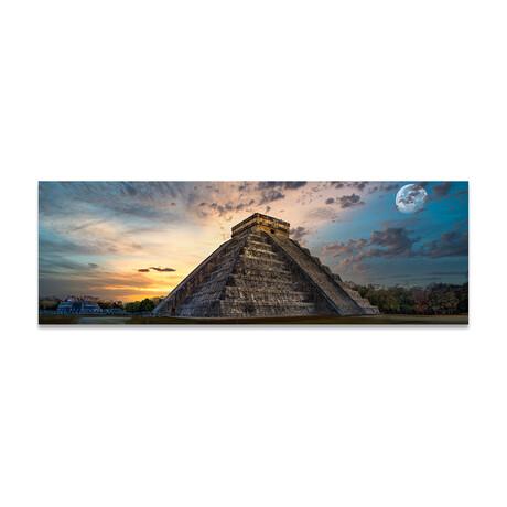 """Chichen Itza Pyramids Mystical (16""""H x 48""""W x 0.5""""D)"""