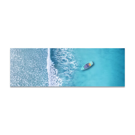 """Aerial Paradize Water (16""""H x 48""""W x 0.5""""D)"""