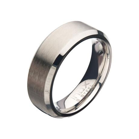 Matte Beveled Ring // 8mm // Silver (Size 9)