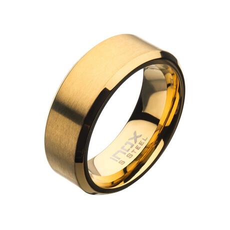 Matte Beveled Ring // 8mm // Gold (Size 9)