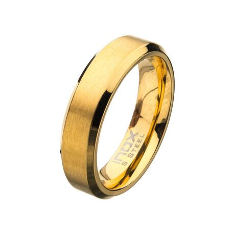Matte Beveled Ring // 6mm // Gold (Size 9)