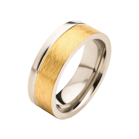Burshed Ring // Gold (Size 9)