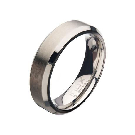 Matte Beveled Ring // 6mm // Silver (Size 9)