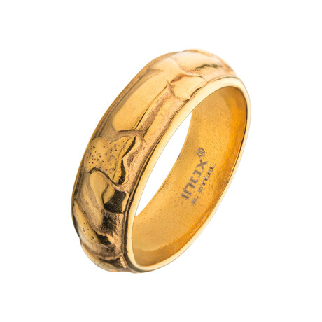 3D Canyon Ring // Gold (Size 9)