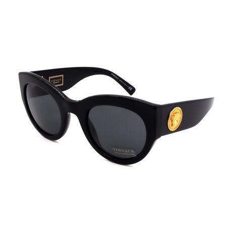Versace // Women's VE4353A-GB187 Cat Eye Sunglasses // Black + Gray