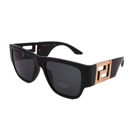 Versace // Men's VE4403GB187 Square Sunglasses // Black + Dark Gray