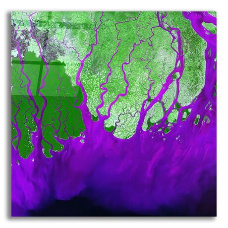 """Ganges River Delta (12""""H x 12""""W x 0.13""""D)"""