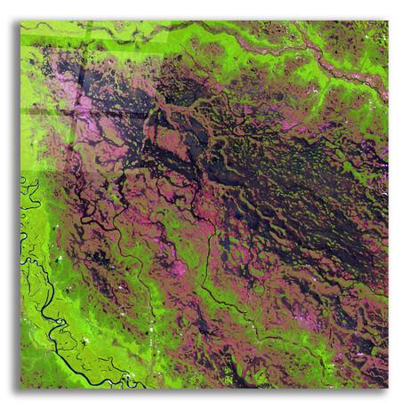"Demini River (12""H x 12""W x 0.13""D)"