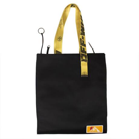 Black Large Logo Tote Bag