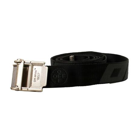 Black Industrial Logo Belt