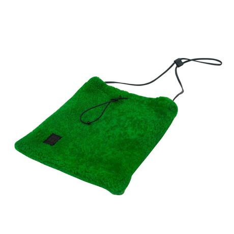 Green Shoelace Crossbody Bag