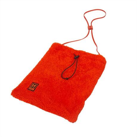 Orange Shoelace Crossbody Bag