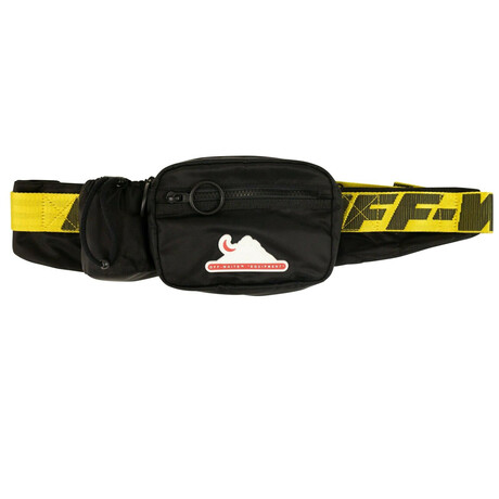 Black Equipment Logo Patch Fanny Pack Bag