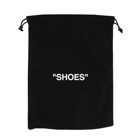 Black 'Shoes' Quote Print Drawstring Bag