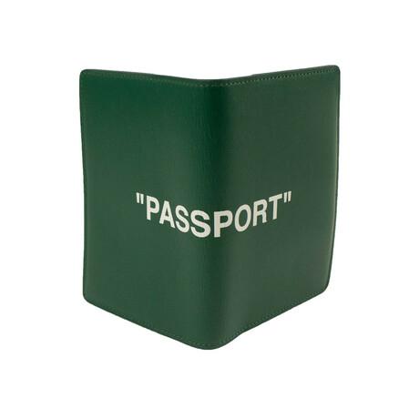 """Green """"Passport"""" Slogan Passport Cardholder"""