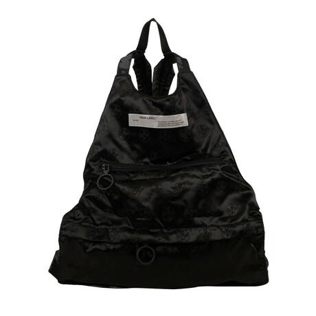 Black Logo Jacquard Backpack