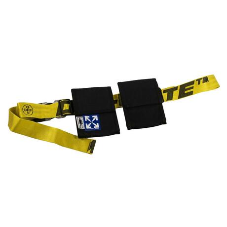 Yellow/Black Logo Two Pocket Fanny Pack Bag