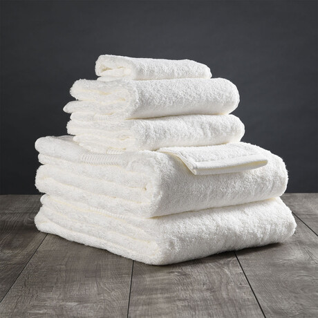 Organic Cotton Bath Towel Set // 6 Piece Set // White