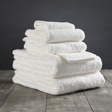 Organic Cotton Bath Towel Set // 6 Piece Set // Ivory