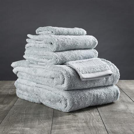 Organic Cotton Bath Towel Set // 6 Piece Set // Mineral Green