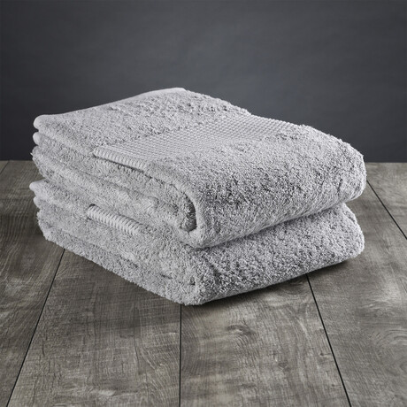 Organic Cotton Bath Sheet // Light Gray