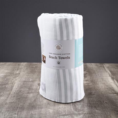 Organic Cotton Sunset Beach Towel // Mineral Green