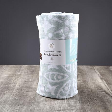 Organic Cotton Kiawah Beach Towel // Mineral Green