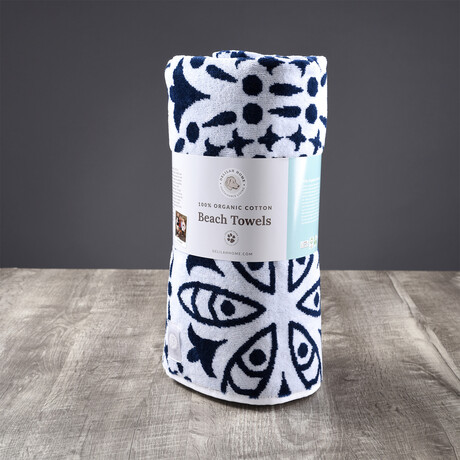 Organic Cotton Kiawah Beach Towel // Blue