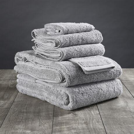 Organic Cotton Bath Towel Set // 6 Piece Set // Light Gray