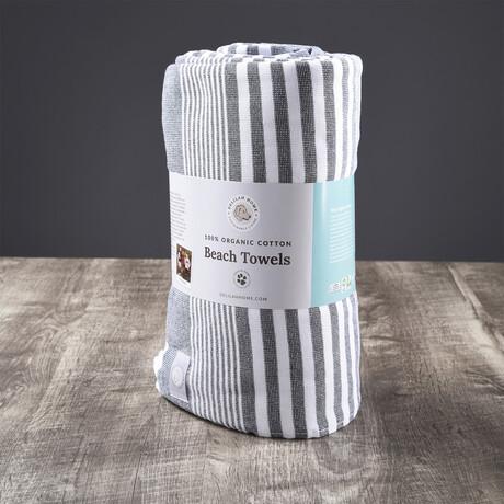 Organic Cotton Sunset Beach Towel // Navy