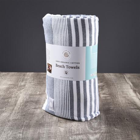 Organic Cotton Sunset Beach Towel // Blue