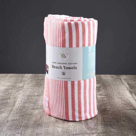 Organic Cotton Sunset Beach Towel // Red