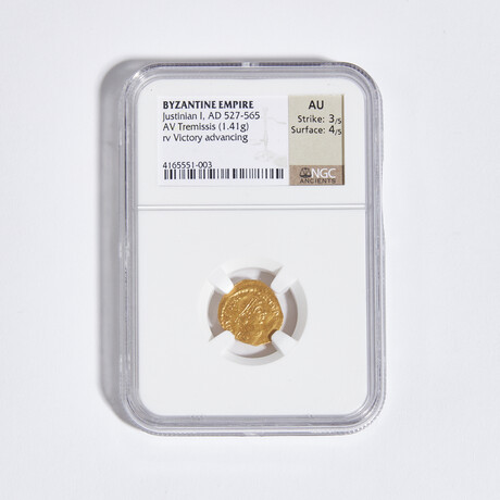 Byzantine Empire // Justinian I, 527-565 AD // Gold Coin