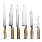 Zebra Wood Knives + Block // 7-Piece Set