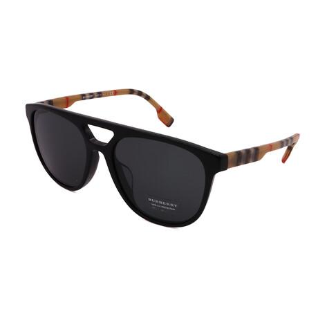 Burberry // Unisex BE4302-300187 Square Sunglasses // Black + Gray