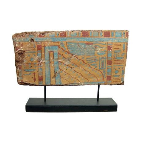 Egyptian Painted Wood Panel // Circa 332-30 BC
