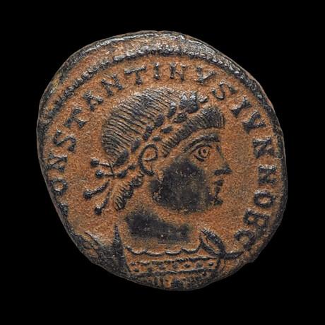 Roman Coin of Constantine II // Struck 335-337 AD