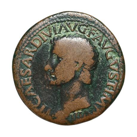 Roman Coin of Tiberius Caesar, 14-37 AD