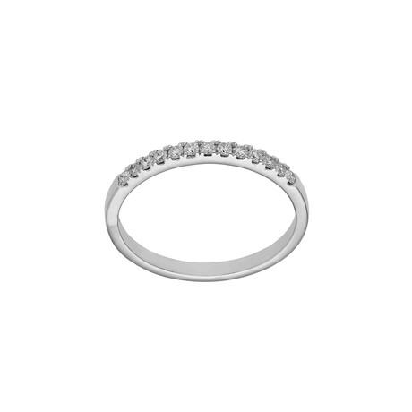 Half Eternity Band + Diamonds // 14K White Gold