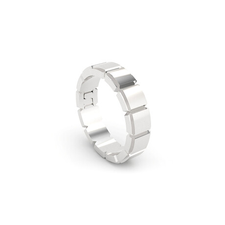 Eternity Square Ring // Sterling Silver (Size 5)