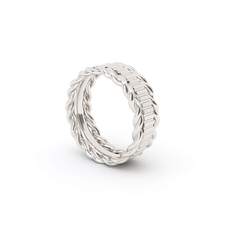 Double Contorted Ring // Sterling Silver (Size 5)