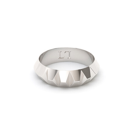 Inverted Pyramid Ring // Sterling Silver (Size 5)