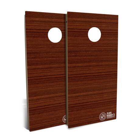 Jarrah Wood // Cornhole Board Set
