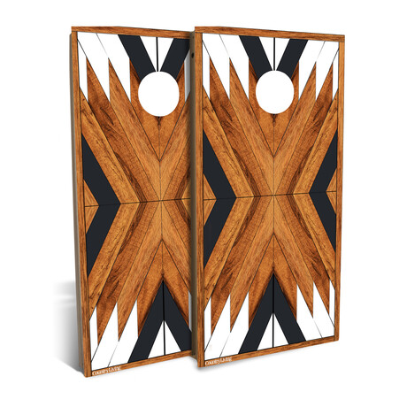 Country Living Reclaimed Geometric // Cornhole Board Set