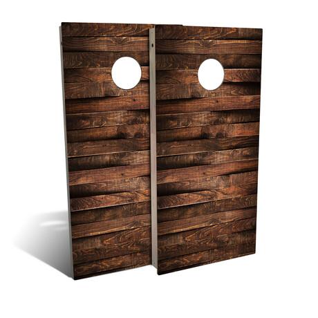 Country Living Uneven Planks // Cornhole Board Set