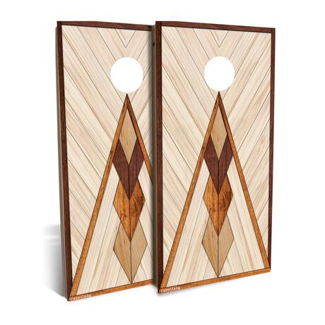 Country Living Geometric Triangle // Cornhole Board Set