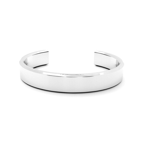 Classic Wide Bangle // 10mm // Sterling Silver (Small)